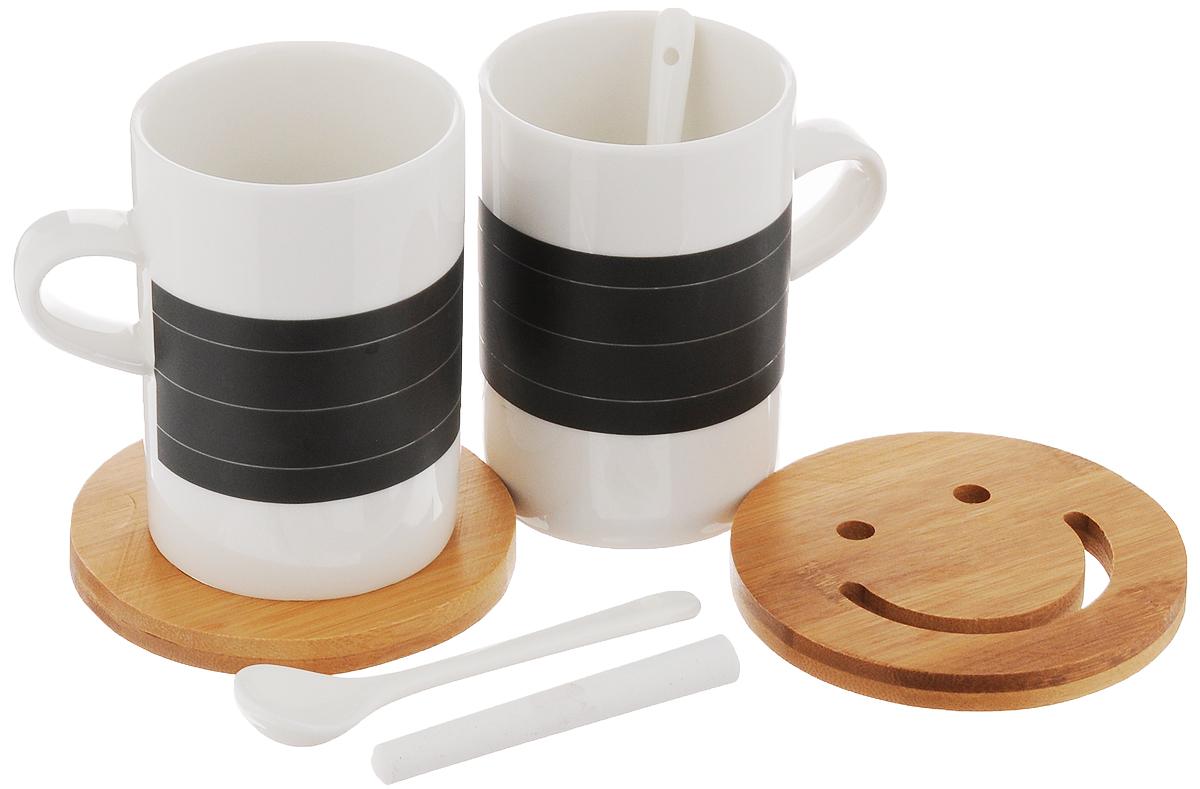 Набор чайный EcoWoo, 7 предметов2012234UНабор для двоих EcoWoo - это не только идеальный подарок, но и прекрасный повод побаловать себя! В состав набора входят 2 кружки с поверхностью для записей мелом, 2 чайные ложки, 2 бамбуковые подставки и мелок. Кружки и ложки выполнены из высококачественного фарфора. Чайный набор EcoWoo - это идеальное решение для отражения вашего настроения. Вы сможете написать на кружке мелом все, что чувствуете. А когда надпись надоест или покажется устарелой, просто сотрите ее. Не использовать в посудомоечной машине. Объем кружек: 250 мл. Диаметр кружек по верхнему краю: 7 см. Высота кружек: 10 см. Длина чайных ложек: 11,5 см. Размер подставок: 10 х 10 х 1 см. Длина мелка: 8,5 см.