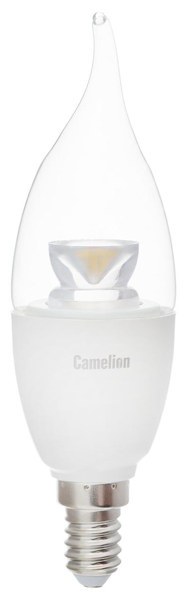 Лампа светодиодная Camelion, теплый свет, цоколь Е14, 6,5W. 1193911939Светодиодная лампа Camelion - это инновационное решение, разработанное на основе новейших светодиодных технологий (LED) для эффективной замены любых видов галогенных или обыкновенных ламп накаливания во всех типах осветительных приборов. Она хорошо подойдет для создания рабочей атмосферы в производственных и общественных зданиях, спортивных и торговых залах, в офисах и учреждениях. Лампа не содержит ртути и других вредных веществ, экологически безопасна и не требует утилизации, не выделяет при работе ультрафиолетовое и инфракрасное излучение. Напряжение: 220-240 В / 50 Гц. Индекс цветопередачи (Ra): 77+. Угол светового пучка: 240°. Использовать при температуре: от -30° до +40°.