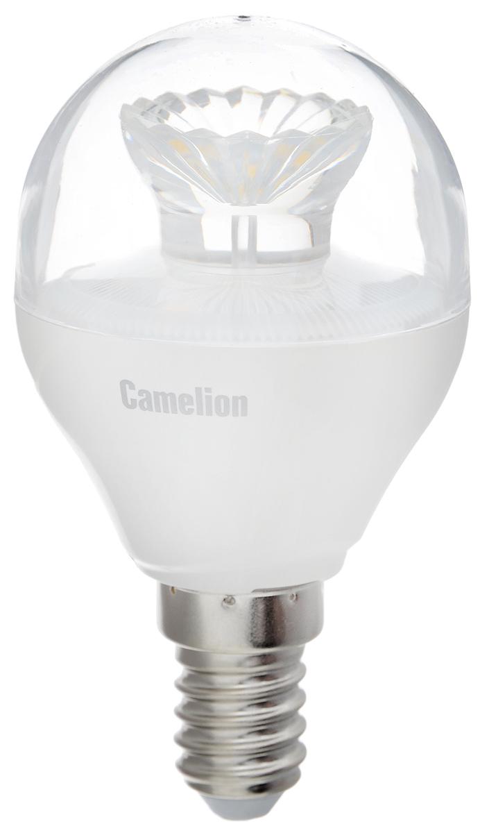 Лампа светодиодная Camelion, холодный свет, цоколь Е14, 7,5W11953Светодиодная лампа Camelion - это инновационное решение, разработанное на основе новейших светодиодных технологий (LED) для эффективной замены любых видов галогенных или обыкновенных ламп накаливания во всех типах осветительных приборов. Она хорошо подойдет для освещения квартир, гостиниц и ресторанов. Лампа не содержит ртути и других вредных веществ, экологически безопасна и не требует утилизации, не выделяет при работе ультрафиолетовое и инфракрасное излучение. Напряжение: 220-240 В / 50 Гц. Индекс цветопередачи (Ra): 82+. Угол светового пучка: 220°. Использовать при температуре: от -30° до +40°.