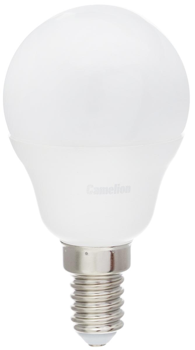 Лампа светодиодная Camelion, холодный свет, цоколь Е14, 7W. 1207112071Светодиодная лампа Camelion - это инновационное решение, разработанное на основе новейших светодиодных технологий (LED) для эффективной замены любых видов галогенных или обыкновенных ламп накаливания во всех типах осветительных приборов. Она хорошо подойдет для освещения квартир, гостиниц и ресторанов. Лампа не содержит ртути и других вредных веществ, экологически безопасна и не требует утилизации, не выделяет при работе ультрафиолетовое и инфракрасное излучение. Напряжение: 220-240 В / 50 Гц. Индекс цветопередачи (Ra): 77+. Угол светового пучка: 220°. Использовать при температуре: от -30° до +40°.