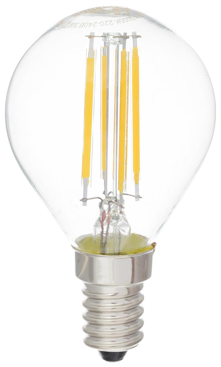 Лампа светодиодная Camelion, теплый свет, цоколь Е14, 4W