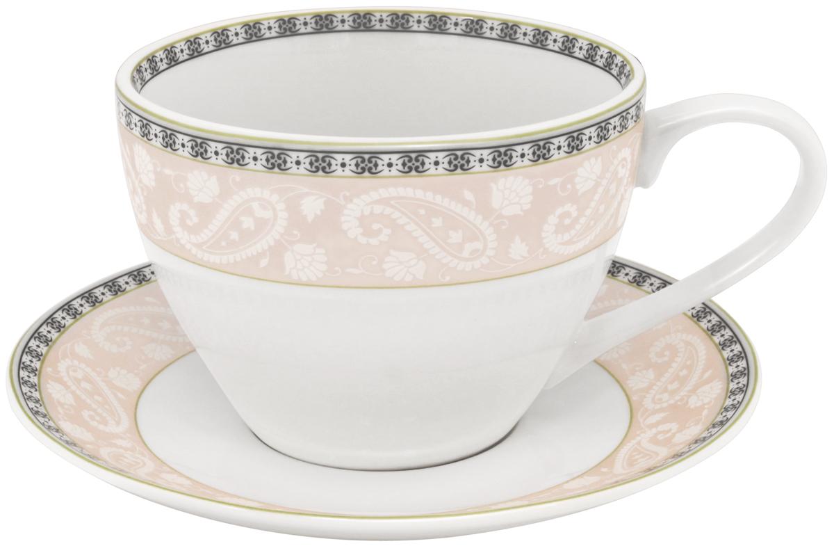 Набор чайный Esprado Arista Rose, 12 предметовARR031RE304Чайный набор Esprado Arista Rose состоит из шести чашек и шести блюдец, изготовленных из высококачественного костяного фарфора. Над созданием дизайна коллекций посуды из фарфора Esprado работает международная команда высококлассных дизайнеров, не только воплощающих в жизнь все новейшие тренды, но также и придерживающихся многовековых традиций при создании классических коллекций. Посуда из костяного фарфора будет идеальным выбором, для тех, кто предпочитает красивую современную посуду из высококачественного материала, которая отличается высокой прочностью и подходит для ежедневного использования. Посуда из коллекции Arista Rose прекрасно подойдет для уютного домашнего ужина, придав ему легкий оттенок торжественности. Тонкий огуречный узор в сочетании с нежным розовым цветом создает ощущение мягкости и тепла. Можно использовать в микроволновки печи и мыть в посудомоечной машине.