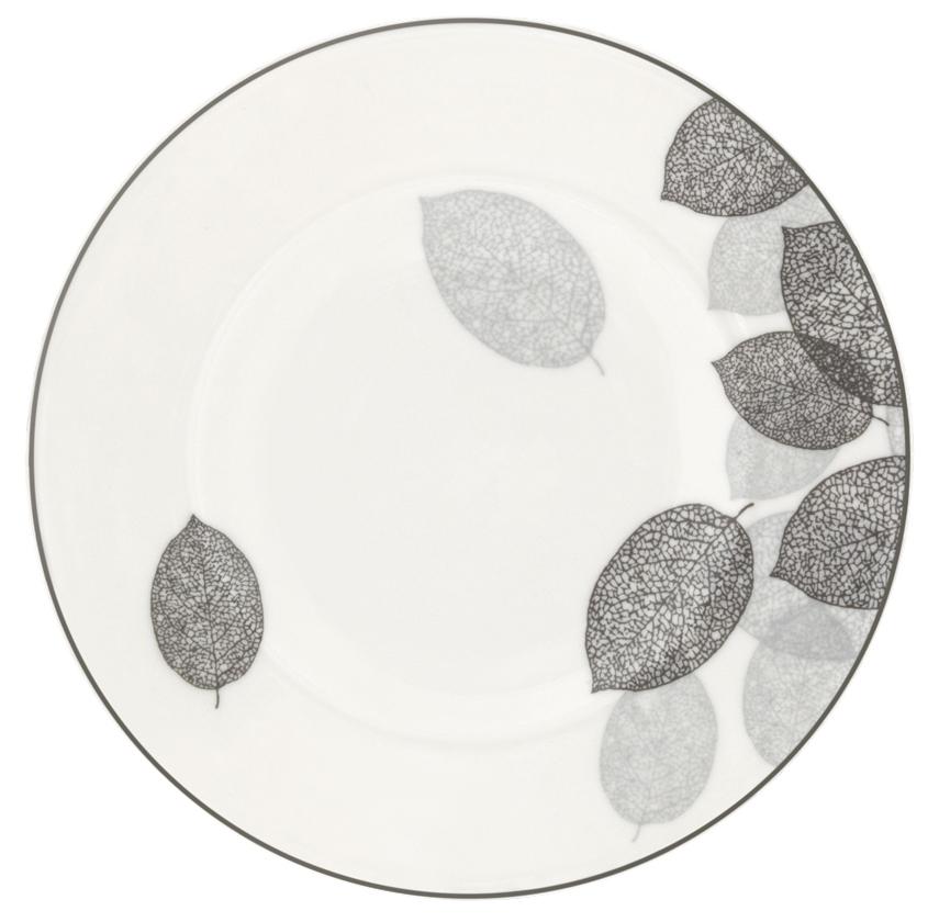 Набор десертных тарелок Esprado Bosqua Platina, диаметр 18,5 см, 6 штBPL018SE301Тарелка десертная, 18,5 см, костяной фарфор, Bosqua Platina, Esprado, BPL018SE302