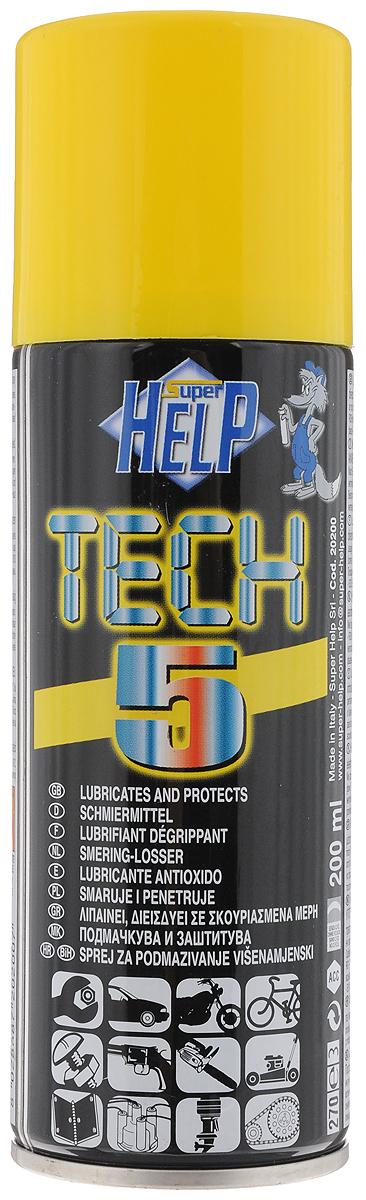 Cмазка многоцелевая SuperHelp Tech 5, для разблокировки и защиты механических узлов, 200 мл20200Многоцелевая смазка SuperHelp Tech 5 предназначена для восстановления работоспособности и защиты узлов и механизмов работающих в условиях высоких нагрузок. Смазывает и облегчает демонтаж заржавевших деталей, предохраняет от коррозии. Водостойкая. Предохраняет электронные компоненты от влаги. Продлевает срок службы обработанных узлов. Имеется трубка для струйного распыления спрея. Объем: 200 мл. Товар сертифицирован.