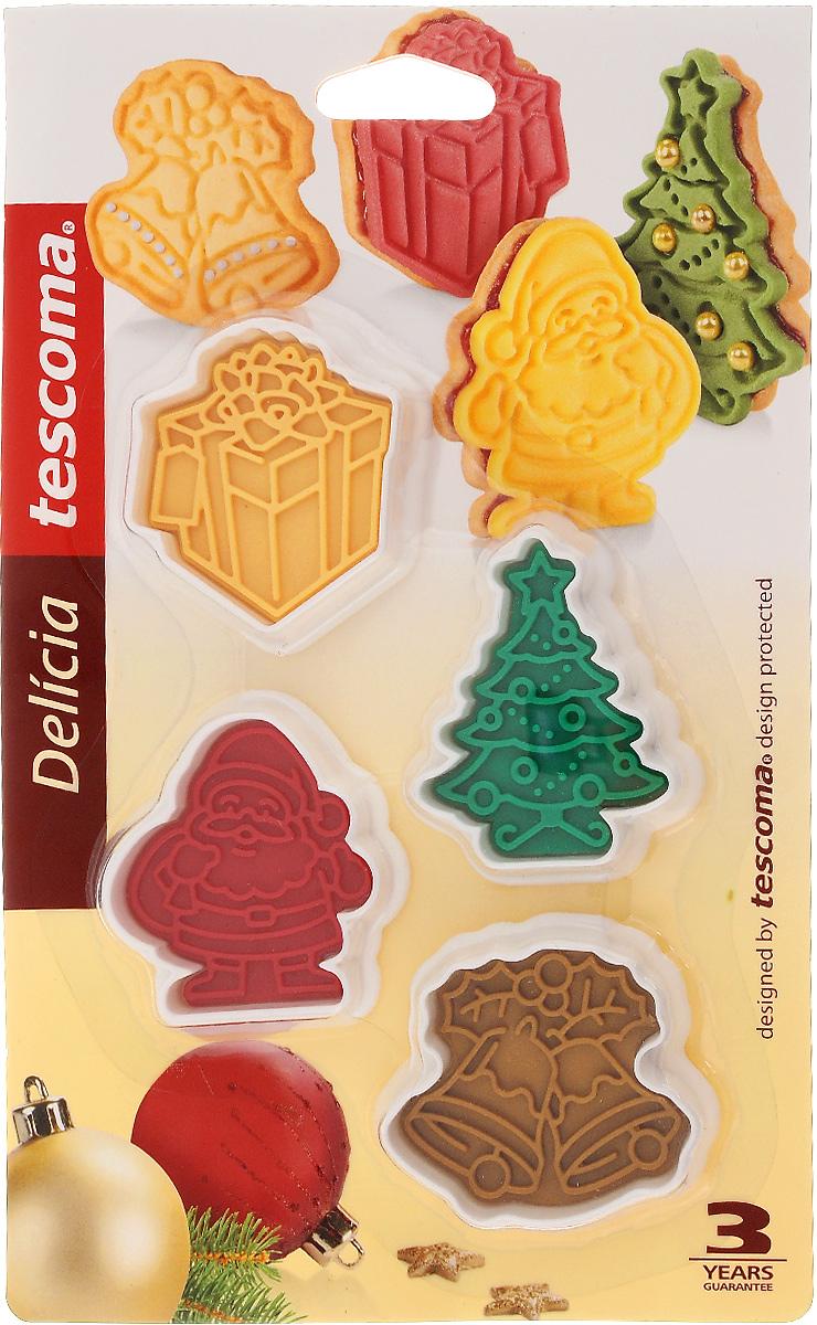 Пресс-форма для печенья Tescoma Delicia. Рождественские, 4 шт630857Пресс-форма для печенья Tescoma Delicia. Рождественские выполнена из высококачественного прочного пластика. С такой формой легко не только вырезать фигурное тесто для приготовления домашнего печенья, но и сделать рисунок с помощью специальной печати и приготовить домашнее праздничное печенье. Можно мыть в посудомоечной машине. Средний размер формы: 5,5 х 6 см.