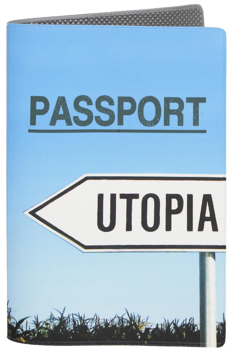 Обложка для паспорта Mitya Veselkov Utopia, цвет: голубой. OZAM411OZAM411Обложка для паспорта Mitya Veselkov Utopia не только поможет сохранить внешний вид ваших документов и защитить их от повреждений, но и станет стильным аксессуаром, идеально подходящим вашему образу. Она выполнена из поливинилхлорида, внутри имеет два вертикальных кармашка из прозрачного пластика. Такая обложка поможет вам подчеркнуть свою индивидуальность и неповторимость! Обложка для паспорта стильного дизайна может быть достойным и оригинальным подарком.