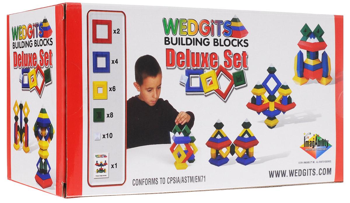Wedgits Конструктор Deluxe Set300020Конструктор Wedgits Deluxe Set привлечет внимание вашего ребенка и не позволит ему скучать. Детали конструктора имеют правильные геометрические формы, идеально стыкуются, ставятся друг на друга, как вертикально, так и горизонтально, тем самым образуя множество неповторимых комбинаций. В набор входят 30 ярких элементов конструктора и буклет с моделями для сборки. Игры с конструктором помогут вашему ребенку развить мелкую моторику рук, координацию движений, усидчивость, воображение и фантазию.