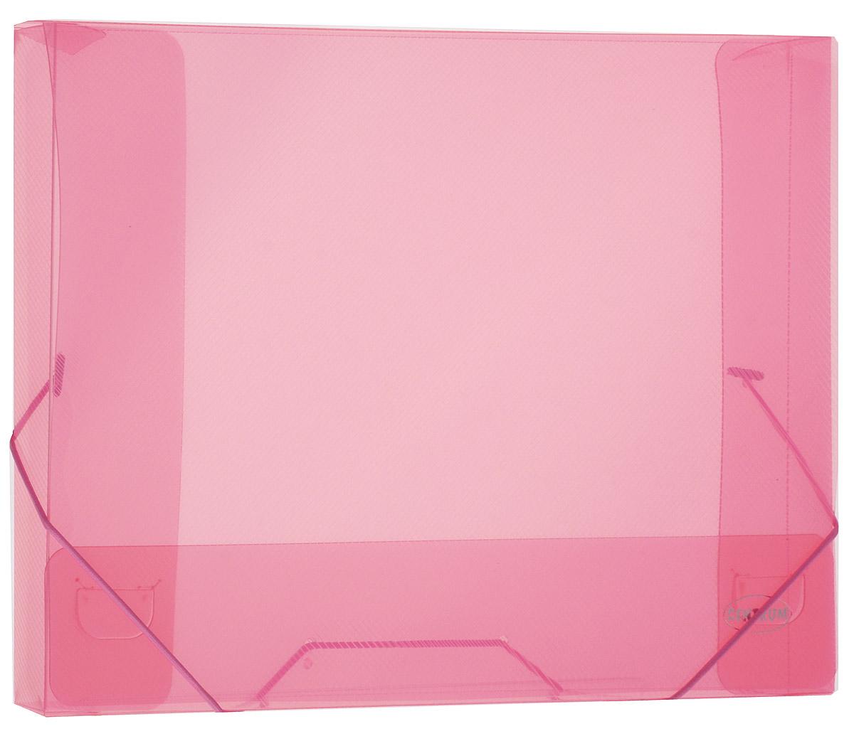 Centrum Папка на резинке цвет розовый80019_розовыйПапка-конверт на резинке Centrum - это удобный и функциональный офисный инструмент, предназначенный для хранения и транспортировки рабочих бумаг и документов формата А4. Папка с двойной угловой фиксацией резиновой лентой изготовлена из износостойкого полупрозрачного полипропилена. Внутри папка имеет три клапана, что обеспечивает надежную фиксацию бумаг и документов. Оформлена тиснением в виде параллельной штриховки. Папка - это незаменимый атрибут для студента, школьника, офисного работника. Она надежно сохранит ваши документы и сбережет их от повреждений, пыли и влаги.