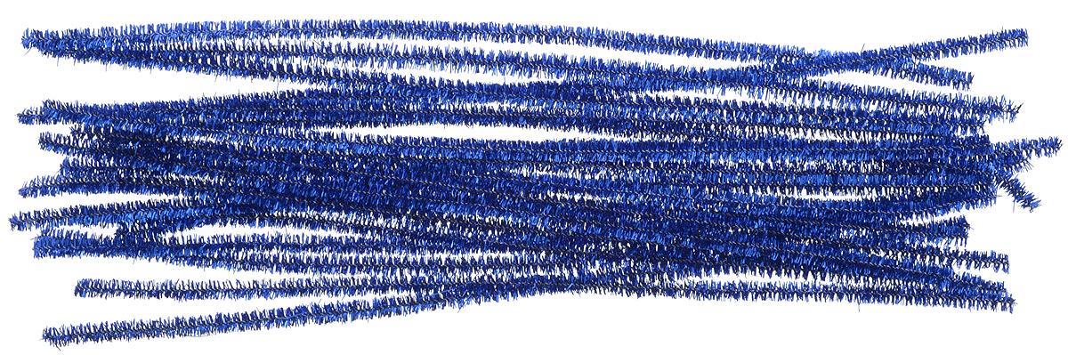 Синель-проволока люрекс Астра, цвет: синий, 0,6 см х 30 см, 20 шт7708694_ B-007 синийИз пушистой проволоки Астра, выполненной из полиэстера и металла, можно мастерить разные поделки - плоские и объемные. Такая проволока послужит практичным материалом в валянии и изготовлении игрушек. Проволока - это очень распространенный и легкодоступный материал. Ее изготавливают из разных металлов и покрывают разными материалами, благодаря чему она обладает прекрасными декоративными свойствами. Проволока является хорошим материалом для плетения, а для достижения эффектного украшения можно сочетать несколько цветов проволоки.