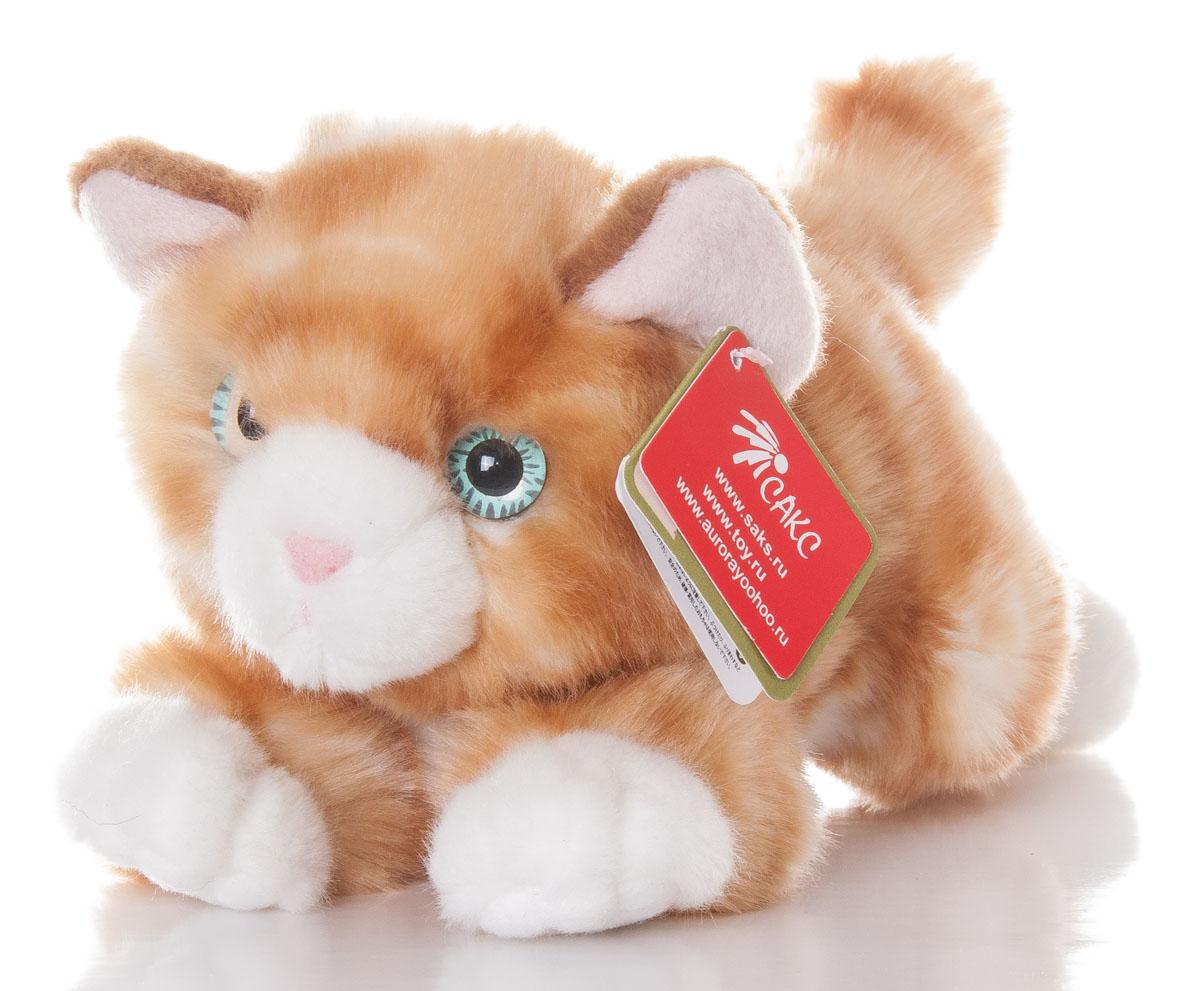 Aurora Игрушка мягкая Котик рыжий 22 см