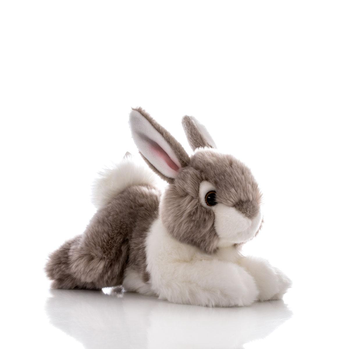 Aurora Игрушка мягкая Кролик серый 28 см300-05Игрушка Аврора станет замечательным подарком не только для мальчиков и девочек разных возрастов, но и для взрослых. Игрушку можно стирать вручную или в машинке - она не деформируется и не потеряет цвета, шерсть не линяет и не скатывается со временем.