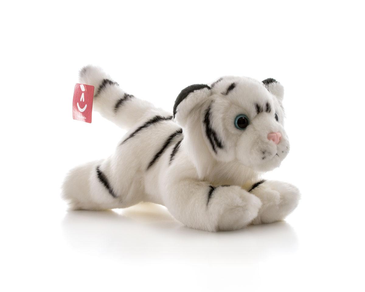 Aurora Игрушка мягкая Тигр белый 28 см300-18Игрушка Аврора станет замечательным подарком не только для мальчиков и девочек разных возрастов, но и для взрослых. Игрушку можно стирать вручную или в машинке - она не деформируется и не потеряет цвета, шерсть не линяет и не скатывается со временем.