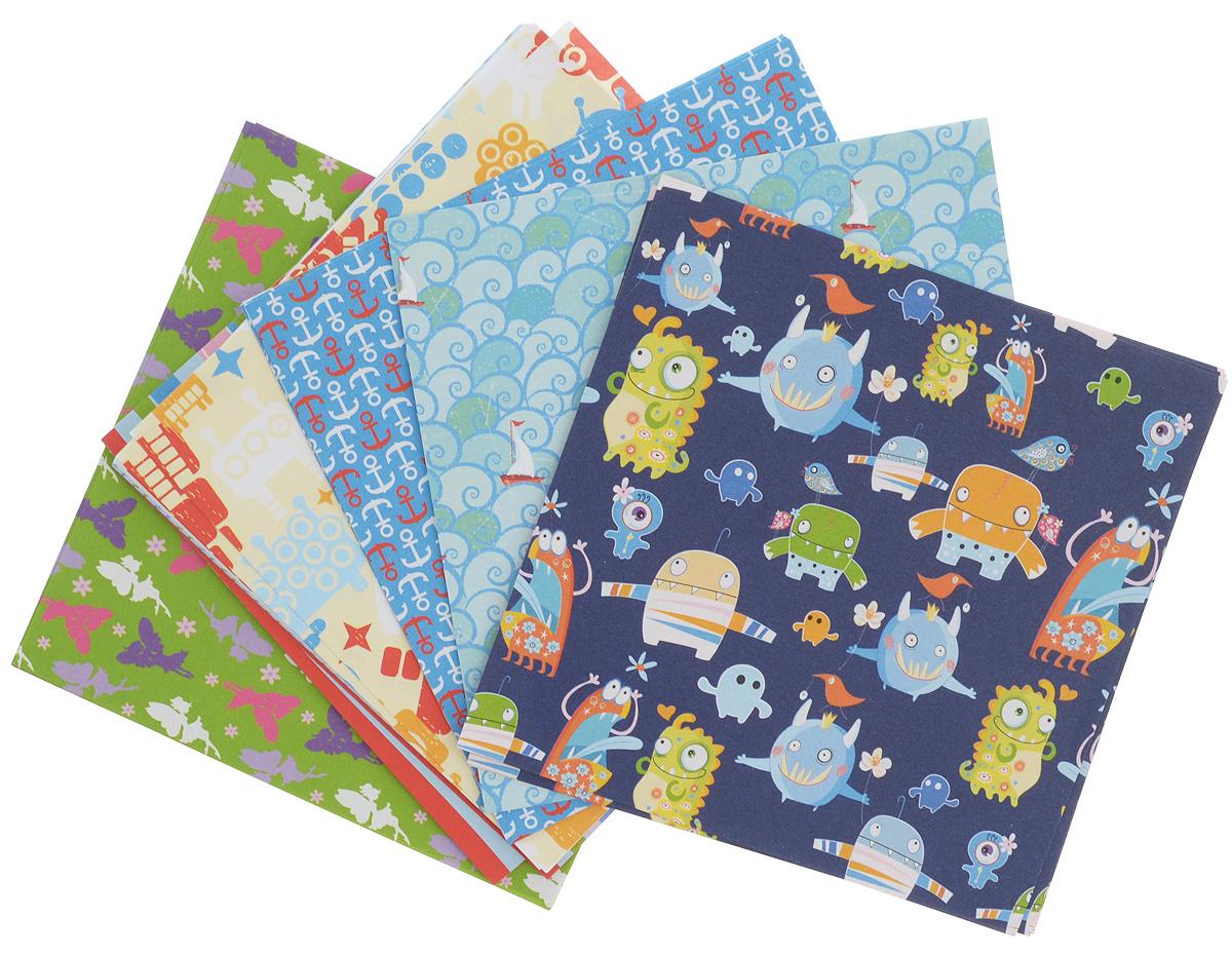 Бумага для оригами Folia Kids, 10 х 10 см, 50 листов7712863Набор специальной цветной двусторонней бумаги для оригами Folia Kids содержит 50 листов разных цветов, которые помогут вам и вашему ребенку сделать яркие и разнообразные фигурки. В набор входит бумага 10 разных дизайнов. С одной стороны - бумага однотонная, с другой - оформлена оригинальными узорами и орнаментами. Эти листы можно использовать для оригами или для создания новогодних звезд. При многоразовом сгибании листа на бумаге не появляются трещины, так как она обладает очень высоким качеством. Бумага хорошо комбинируется с цветным картоном. За свою многовековую историю оригами прошло путь от храмовых обрядов до искусства, дарящего радость и красоту миллионам людей во всем мире. Складывание и художественное оформление фигурок оригами интересно заполнят свободное время, доставят огромное удовольствие, радость и взрослым и детям. Увлекательные занятия оригами развивают мелкую моторику рук, воображение, мышление, воспитывают волевые качества и...