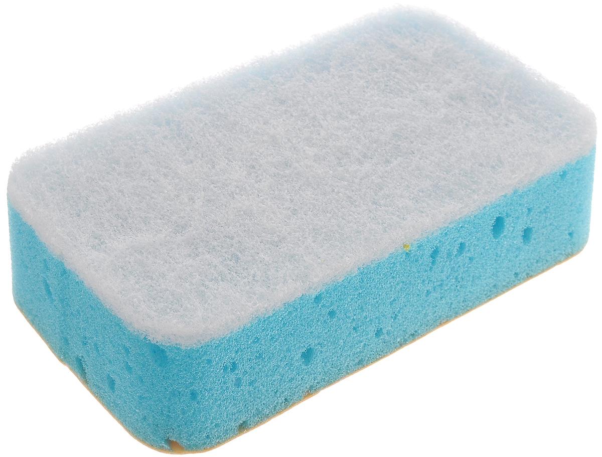 Губка для кафеля Paterra 2 в 1, трехслойная, 14,5 х 7,5 х 4 см406-008Губка Paterra 2 в 1 выполнена из полиуретана, деликатной фибры и искусственной замши. Предназначена для мытья и полировки блестящих поверхностей: кафеля, сантехники, хромированных изделий. Белый абразивный слой губки чистит и не оставляет царапин. Поверхность из искусственной замши удаляет разводы и полирует. Поролон создает обильную пену. Слои изделия качественно склеены и не отслаиваются в процессе использования.