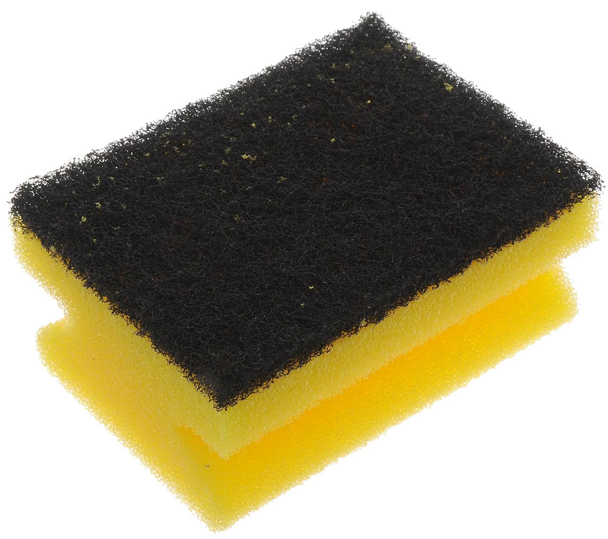 Губка для мытья посуды Paterra Super Aktiv, с лавсаном, 9,5 х 7 х 4,5 см406-007Губка Paterra Super Aktiv выполнена из полиуретана с абразивным слоем с вкраплениями из лавсана для увеличения чистящего эффекта. Губка не деформируется и не крошится при нагрузках. Специальный клеевой шов не позволяет слоям отслаиваться в процессе использования. Губка предназначена для мытья стойких загрязнений на посуде.