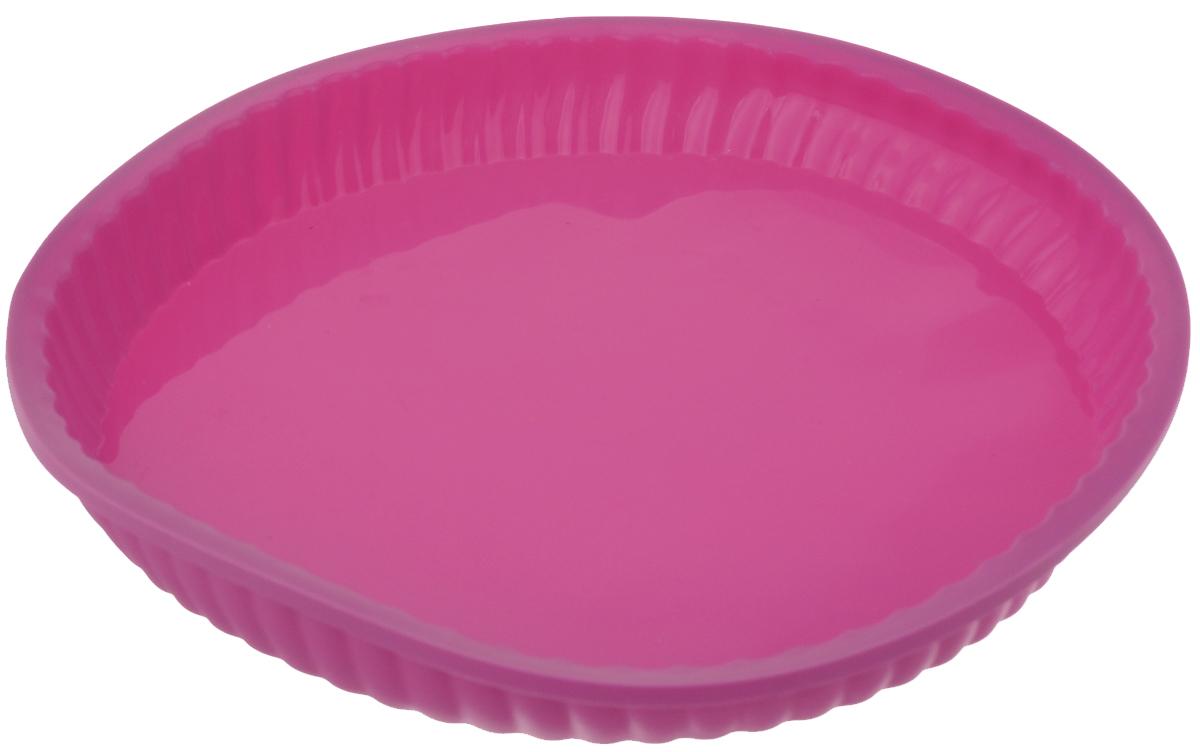 """Форма для выпечки """"Marvel"""", силиконовая, цвет: розовый, диаметр 26,6 см"""