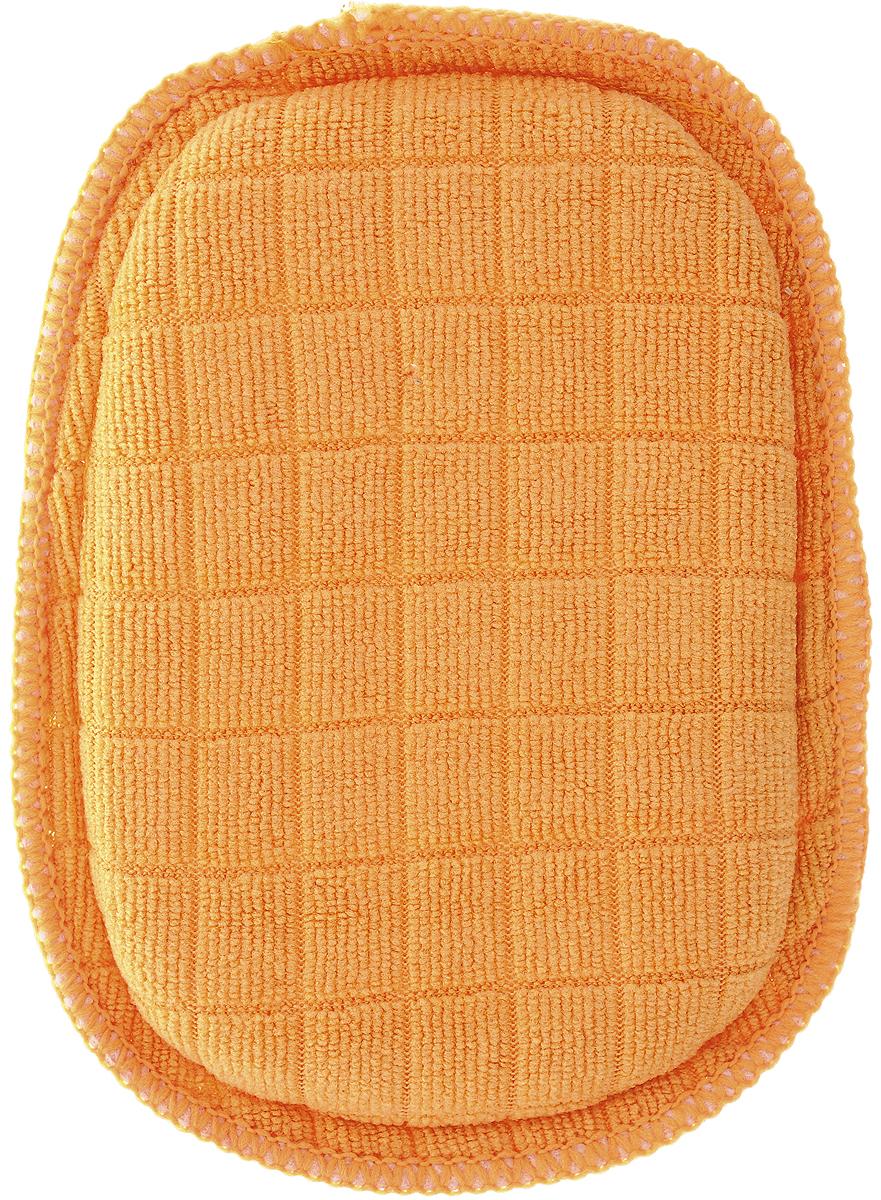 Губка для мытья посуды Paterra Professional, из микрофибры, 18 х 12 х 2,5 см406-025Губка Paterra Professional выполнена из микрофибры (70% полиэстер, 30% полиамид), наполнитель - полиуретан. Изделие идеально моет посуду без добавления чистящего средства. Одна сторона губки с жесткой сеточкой деликатно удаляет даже сверхстойкие загрязнения с любых поверхностей, не оставляя царапин, разводов и ворсинок. Другая мягкая сторона предназначена для удаления грязи, жира и иных загрязнений без использования чистящих средств. Отлично впитывает жидкость. Удаляет до 90% бактерий с очищаемой поверхности.