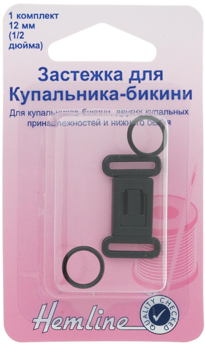 Застежка для купальника-бикини Hemline, цвет: черный460.BЗастежка Hemline предназначена для купальника-бикини, других купальных принадлежностей и нижнего белья. Выполнена из прочного пластика.