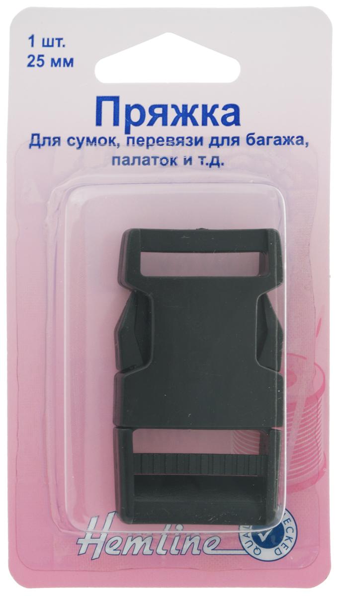 Пряжка-фастекс Hemline, 25 мм454.25.BПластиковая пряжка-застежка Hemline предназначена для фиксации ремня на одежде или сумке. Также подойдет для перевязи для багажа, палаток и другого. Выполнена пряжка из прочного пластика. Подходит для ремней шириной до 25 мм.