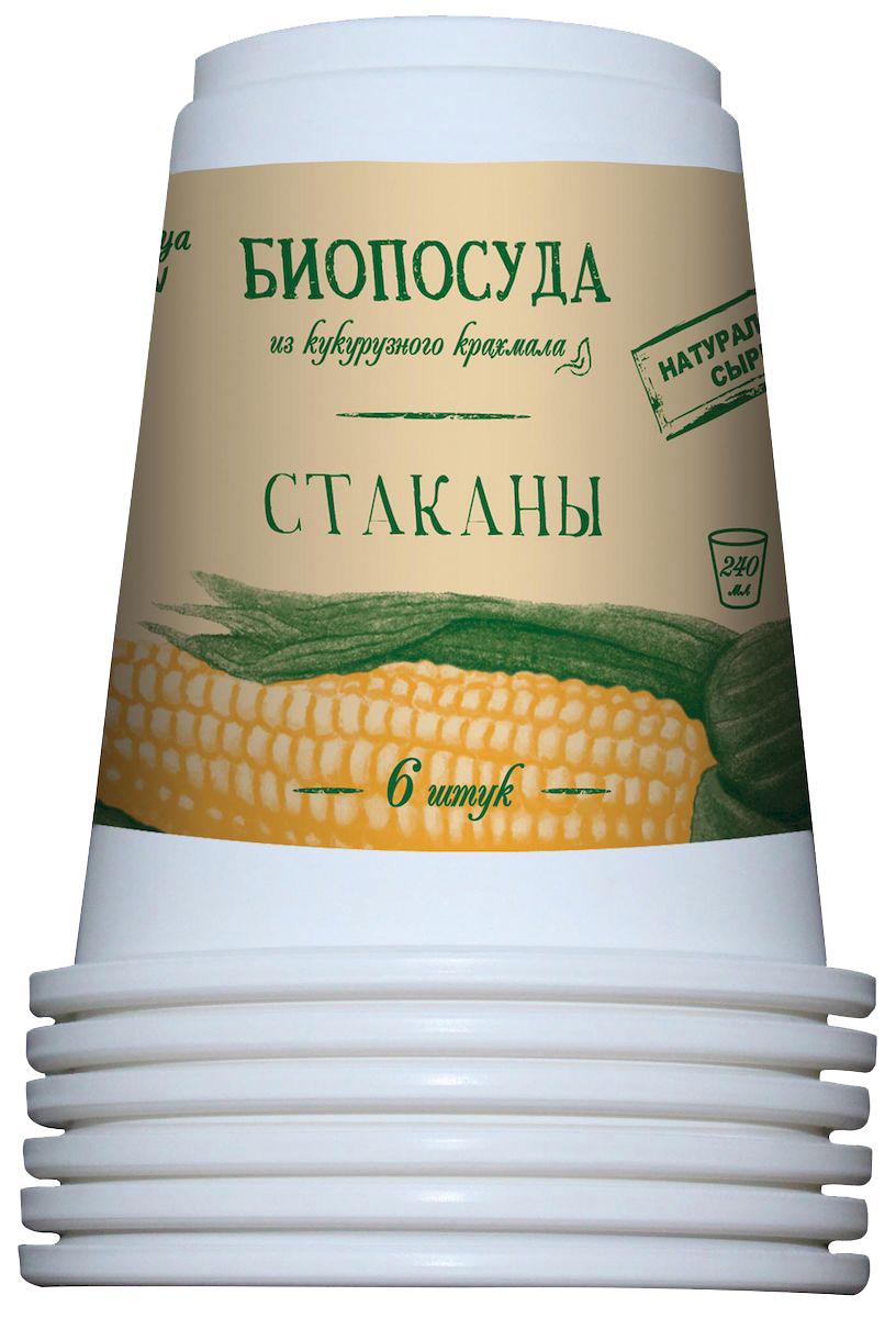 Набор одноразовых стаканов Nova Toriya, 240 мл, 6 шт47Безвредна для человека и окружающей среды