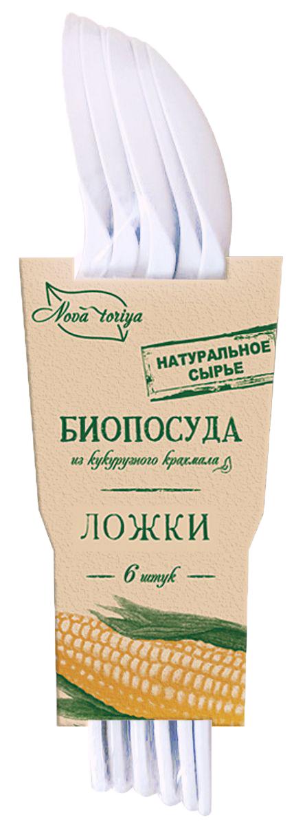 Набор одноразовых ложек Nova Toriya, длина 16 см, 6 шт61Безвредна для человека и окружающей среды