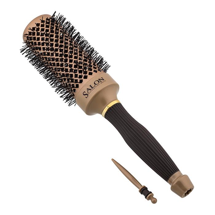 Salon Professional Термобрашинг Nano Style. 98064HVDI337-98064HVDТермобрашинг Salon Professional 98064HVDI Nano Style, керамический, прорезиненная ручка, зубцы - термостойкие нейлоновые штифты, вставка для отделения.