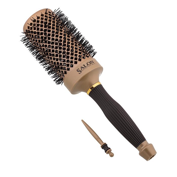 Термобрашинг Salon Professiona 98065HVDI Nano Style, керамический, прорезиненная ручка, зубцы - термостойкие нейлоновые штифты, вставка для отделени