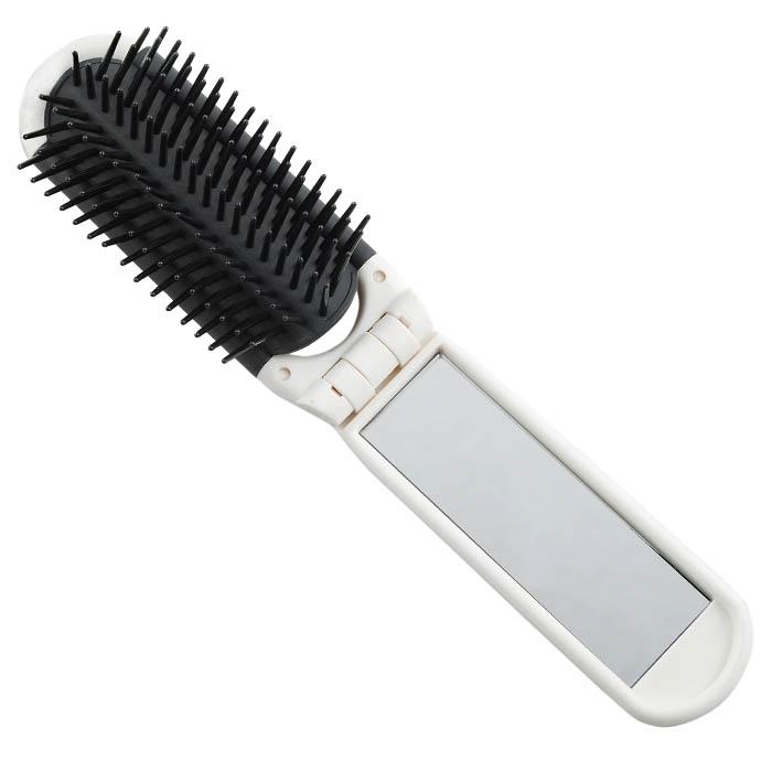 Расчёска с зеркалом Printскладная, зубцы-пластиковые штифты