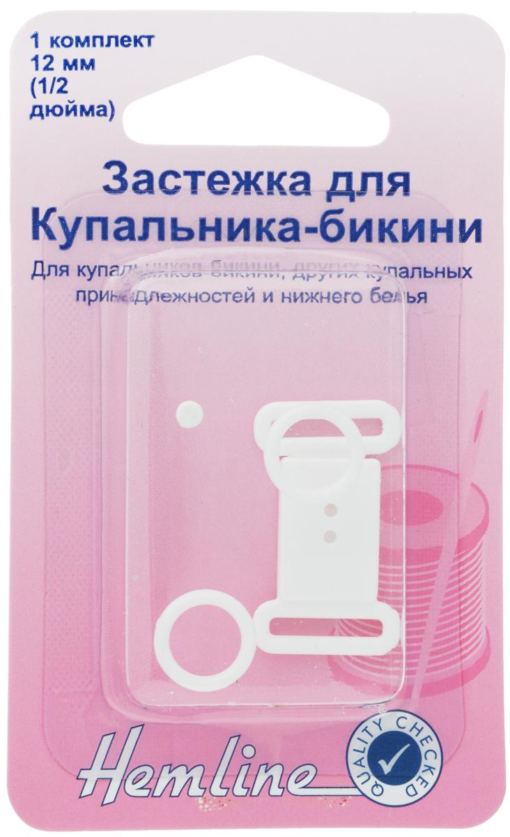 Застежка для купальника-бикини Hemline, цвет: белый460.WЗастежка Hemline предназначена для купальника-бикини, других купальных принадлежностей и нижнего белья. Выполнена из прочного пластика.