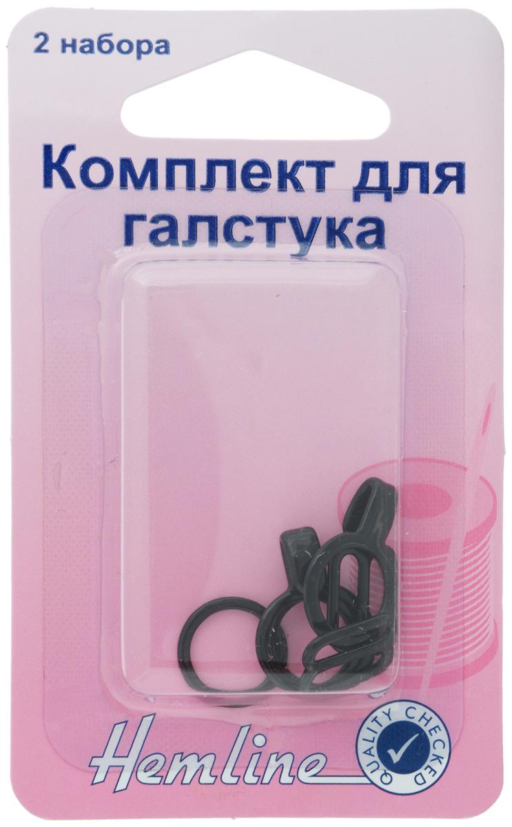 Комплект для галстука-бабочки Hemline, 2 набора469Комплект для галстука-бабочки Hemline состоит из крючка, колечка и регулятора размера. Изделия выполнены из прочного металла. На обратной стороне упаковки имеется инструкция на русском языке.