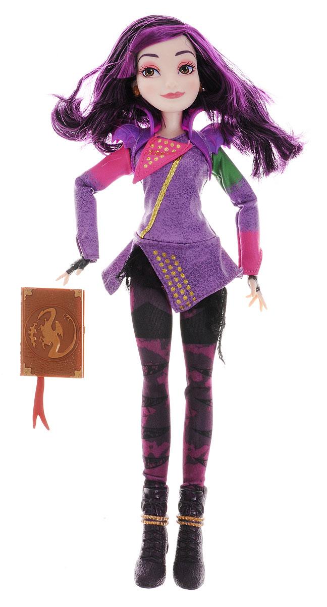 Disney Descendants Кукла МэлB3113_МэлКукла Disney Descendants Мэл - точная копия героини кинофильма и ее анимационной версии. Мэл (дочь Малефисенты) прирожденный лидер. Мэл артистична, умна, довольно резка, а её способность накладывать заклинания делает её с одной стороны популярной в школе, а с другой стороны заставляет других учеников бояться Мэл. Лицо куклы очень выразительно, оно передает ее характер и очаровывает с первого взгляда. На кукле тот же наряд, что и на девушке в фильме, именно в нем она появляется в начале кино и изображена на всех постерах. Каждая деталь костюма тщательно повторена и максимально реалистична. Благодаря множеству шарнирных соединений кукле можно придавать различные позы. Длинные фиолетово-черные волосы куклы можно расчесывать и создавать различные прически. Одним из элементов одежды является необычный пластиковый воротник. В набор с куклой входит книга заклинаний.