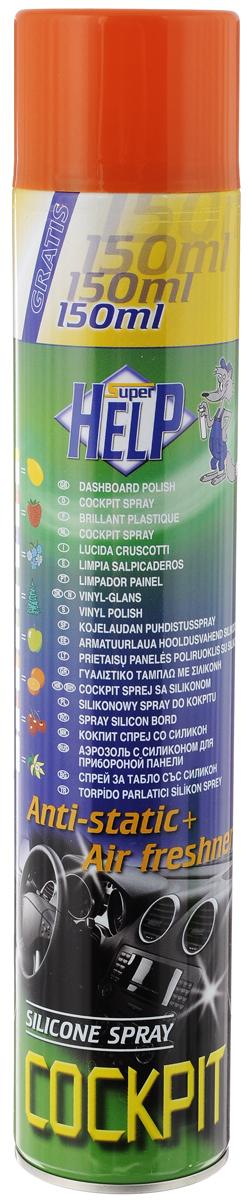 Полироль для приборной панели SuperHelp, с силиконом, с ароматом апельсина, 750 мл37506Полироль SuperHelp восстанавливает, защищает и придает блеск любым приборным панелям автомобиля. Снижает повторное запыление, имеет антистатический эффект. Аромат апельсина приятно освежает. Товар сертифицирован.