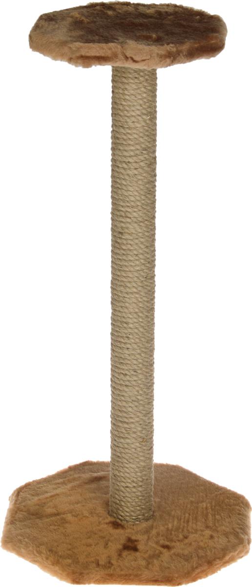 Когтеточка ЗооМарк, с полкой, цвет: светло-коричневый, высота 75 см101-1_св. коричневыйКогтеточка ЗооМарк поможет сохранить мебель и ковры в доме от когтей вашего любимца, стремящегося удовлетворить свою естественную потребность точить когти. Когтеточка изготовлена из дерева, искусственного меха и джута. Товар продуман в мельчайших деталях и, несомненно, понравится вашей кошке. Сверху имеется полка. Всем кошкам необходимо стачивать когти. Когтеточка - один из самых необходимых аксессуаров для кошки. Для приучения к когтеточке можно натереть ее сухой валерьянкой или кошачьей мятой. Когтеточка поможет вашему любимцу стачивать когти и при этом не портить вашу мебель. Размер основания: 35 х 35 см. Высота когтеточки: 75 см. Размер полки: 25,5 х 25,5 см.