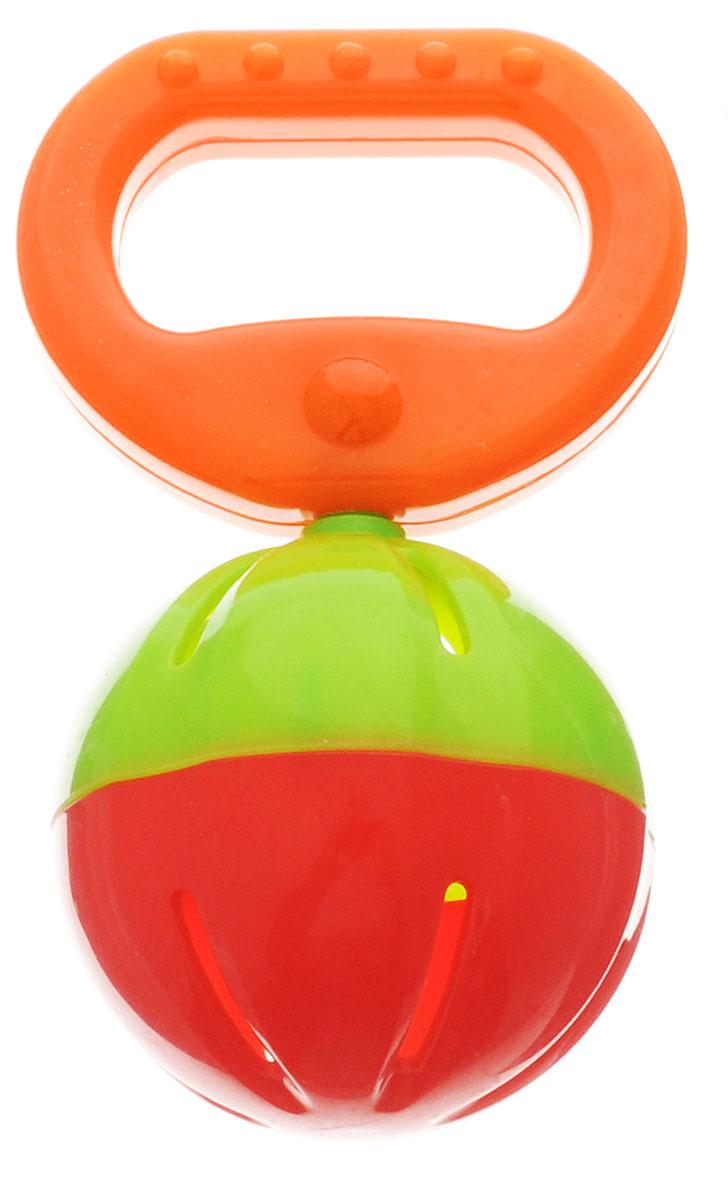 Малышарики Погремушка Бубенчик цвет оранжевый зеленый красныйMSH0302-008Погремушка Малышарики Бубенчик непременно привлечет внимание вашего малыша. С первых месяцев жизни ребенок начинает интересоваться яркими, подвижными предметами, ведь они являются его главными помощниками в изучении нашего удивительного мира. Забавная погремушка Бубенчик поможет малышу научиться фокусировать внимание, различать звуки и знакомиться с формами. Игрушка развивает мелкую моторику и слуховое восприятие. Погремушка выполнена в ярком дизайне из безопасных материалов. Рекомендуемый возраст от 0 до 1 года.