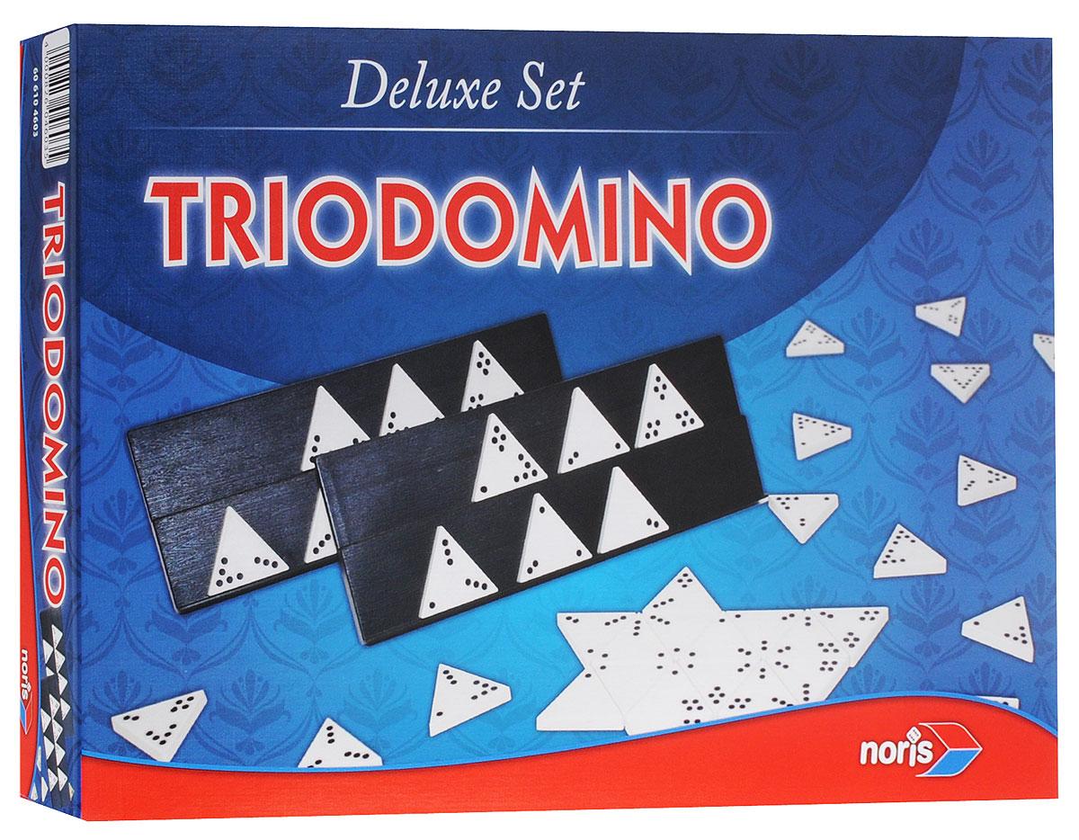 Noris Spiele Настольная игра Тридомино4000826046035Тридомино - это увлекательная игра, которая требует большего умственного напряжения, чем стандартная разновидность домино. Легкие для понимания правила, которые вы можете усложнять по собственному желанию, позволят вам быстро погрузиться в игру. Тридомино - это игра для настоящих мыслителей, которые полагаются не на простую удачу, а на собственные способности. Время игры: 30 минут. Состав игры: 56 треугольных фишек, 4 игровых подставки, 1 блокнот на спирали, правила игры.