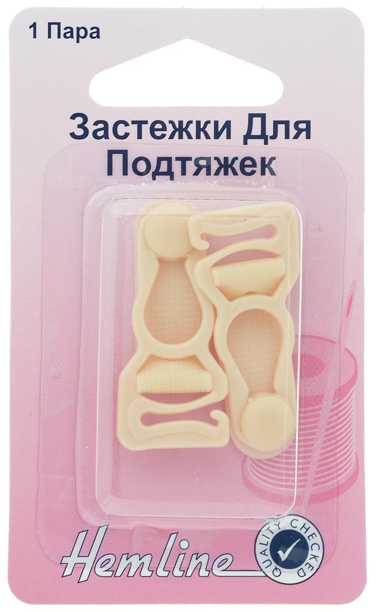Застежки для чулок Hemline, цвет: бежевый, 2 шт464.BEIGПластиковые застежки для чулок Hemline используются для соединения подвязки чулка и самого чулка. Выполнены из пластика. В комплекте 1 пара застежек.
