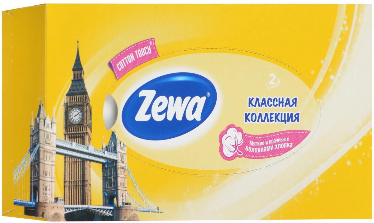 Zewa Платки косметические в коробке Everyday, двухслойные, цвет: желтый, часы, 100 шт140814757_желтый, часы