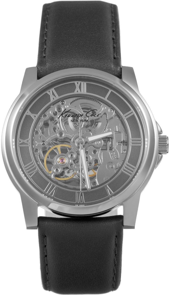 Часы наручные мужские Kenneth Cole, цвет: черный. IKC1514IKC1514Мужские механические скелетонизированные часы Kenneth Cole изготовлены из материалов самого высокого качества на базе новейших технологий. Циферблат оформлен символикой бренда. Корпус часов имеет степень влагозащиты, равную 3 Bar, оснащен механическим механизмом, а также устойчивым к царапинам минеральным стеклом. Задняя крышка дополнена стеклянной вставкой, благодаря чему видно элементы механизма. Ремешок, выполненный из натуральной кожи, застегивается на практичную пряжку. Часы поставляются в фирменной упаковке. Часы Kenneth Cole подчеркнут отменное чувство стиля их обладателя.