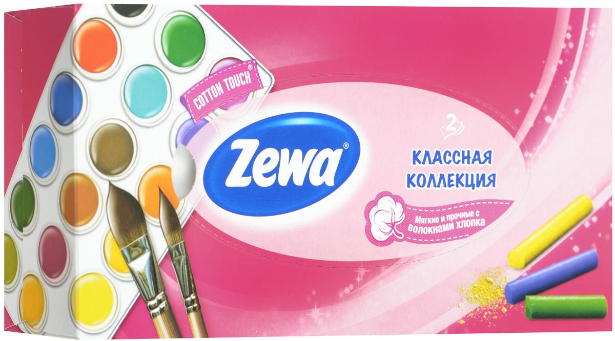 Zewa Платки косметические в коробке Everyday, двухслойные, цвет: розовый, краски, 100 шт140814757_розовый