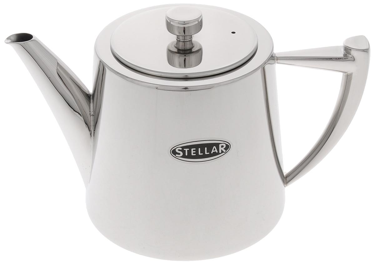 Чайник заварочный Stellar Art Deco, цвет: серебристый, 900 млSC53Традиционный заварочный чайник Stellar Art Deco изготовлен из высококачественной нержавеющей стали с зеркальной полировкой. Благодаря специальному покрытию, тепло распределяется равномерно по основанию чайника. Классический стиль и оптимальный объем делают чайник Stellar Art Deco удобным и оригинальным аксессуаром, который прекрасно подойдет как для ежедневного использования, так и для специальной чайной церемонии. Диаметр чайника (по верхнему краю): 9,5 см. Диаметр основания: 11,8 см. Высота чайника (без учета крышки): 11 см.