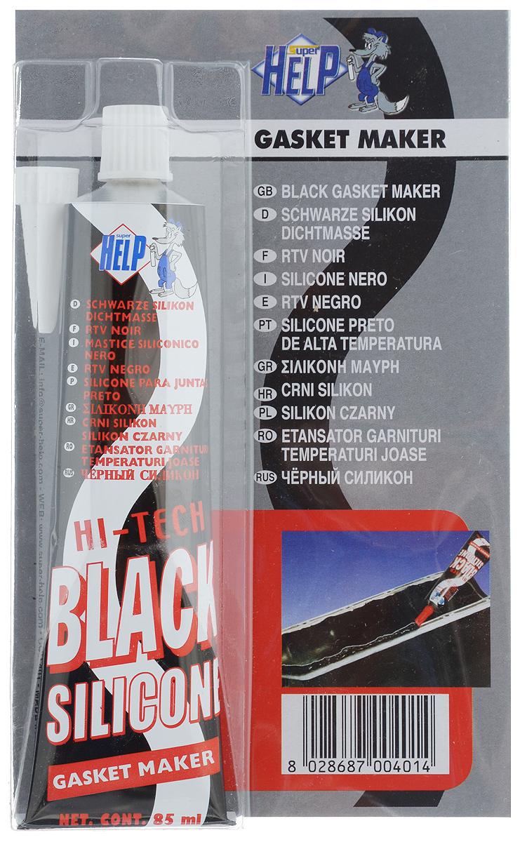 Герметик силиконовый SuperHelp, высокотемпературный, цвет: черный, 85 мл401Силиконовый герметик SuperHelp предназначен для восстановления и замены большинства автомобильных прокладок, склеивания деталей из металла, резины, бумаги, ткани, асбестовых уплотнителей, войлока, дерева. Образует эластичную, долговечную, стойкую к агрессивной среде прокладку. Герметик имеет термостойкость от -62 до +315°C.
