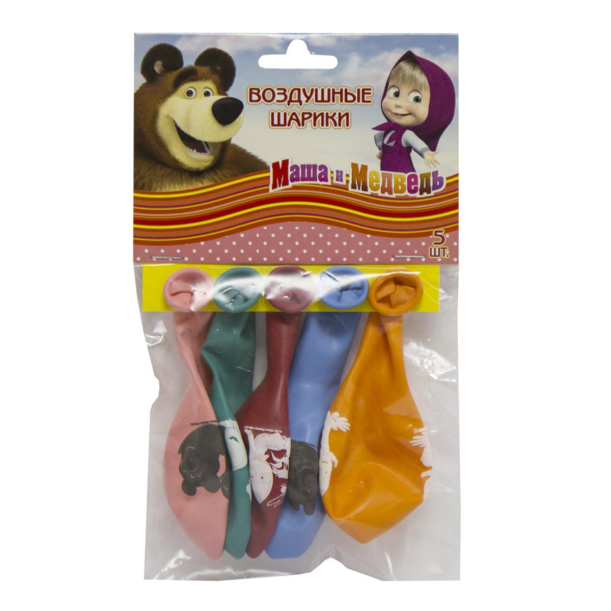 Маша и Медведь Набор шаров 30 см 5 шт