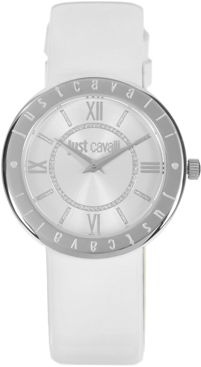 Часы наручные женские Just Cavalli, цвет: белый. R7251532502R7251532502Наручные женские часы Just Cavalli произведены из материалов самого высокого качества на базе новейших технологий. Они оснащены точным кварцевым механизмом. Корпус часов изготовлен из нержавеющей стали, циферблат инкрустирован стразами и защищен минеральным стеклом. Ремешок выполнен из натуральной лаковой кожи и оснащен классической застежкой-пряжкой. Циферблат круглой формы оснащен римскими цифрами и отметками, а так же двумя стрелками - часовой и минутной. Часы являются водостойкими - 3АТМ. Изделие укомплектовано в стильную фирменную коробку с названием бренда. Наручные часы Just Cavalli созданы для современных девушек, которые не желают потерять свою индивидуальность в городской суете.