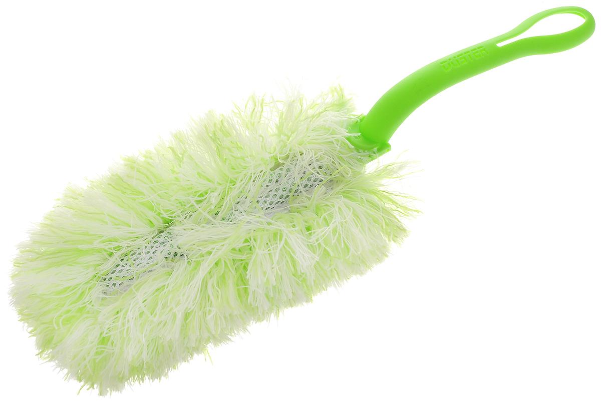 Щетка для удаления пыли Paterra, со съемной насадкой, цвет: салатовый, белый, длина 34 см406-091_зеленыйЩетка Paterra выполнена из высококачественной микрофибры и оснащена складывающейся пластиковой ручкой. Отлично удаляет пыль. Ворсинки, как магниты, притягивают и надежно удерживают частички грязи. Щетка Paterra станет верной помощницей в домашних делах. Длина щетки: 34 см. Размер рабочей поверхности: 20 х 10 х 5 см.