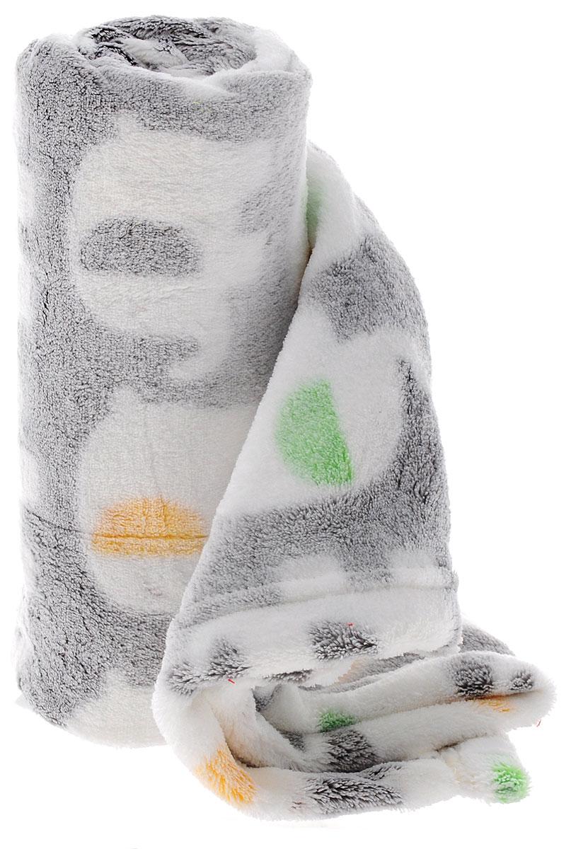ТМ Коллекция Плед детский Слоники цвет серый 70 х 100 см ( ОПК-100*70/СГ )