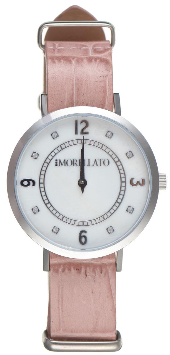 Часы наручные женские Morellato, цвет: розовый. R0151133508R0151133508Стильные женские часы Morellato изготовлены из высокотехнологичной гипоаллергенной нержавеющей стали. Ремешок выполнен из натуральной лаковой кожи с тиснением под рептилию и оснащен классической застежкой-пряжкой. Точный кварцевый механизм имеет степень влагозащиты равную 3 Bar и дополнен часовой и минутной стрелками. Циферблат украшен рисками, инкрустированными искусственными кристаллами. Для того чтобы защитить циферблат от повреждений в часах используется высокопрочное минеральное стекло. Изделие упаковано в фирменную коробку и дополнительно в подарочную коробку с названием бренда. Часы Morellato отличаются современным уникальным дизайном, идеальными пропорциями в сочетании с прекрасными материалами, техническими характеристиками и доступной ценой.