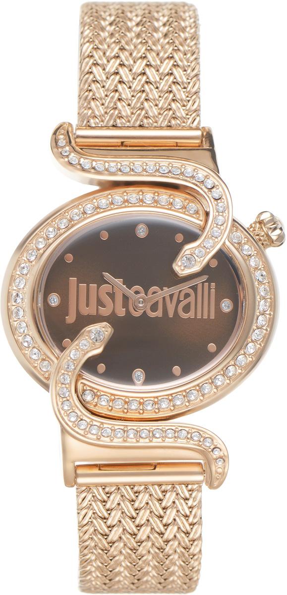 Часы наручные женские Just Cavalli, цвет: золотой. R7253591506R7253591506Оригинальные женские часы Just Cavalli выполнены из нержавеющей стали с PVD-покрытием и минерального стекла. Изделие дополнено символикой бренда. Корпус часов выполнен из нержавеющей стали с PVD-покрытием, оформлен оригинальными змейками, извивающимися вдоль корпуса, инкрустирован стразами. Циферблат дополнен минеральным стеклом и имеет степень влагозащиты равную 3 atm. Ремешок имеет практичную пряжку, которая позволит моментально снимать и одевать часы без лишних усилий. Часы поставляются в фирменной упаковке. Часы Just Cavalli подчеркнут изящность женской руки и отменное чувство стиля у их обладательницы.
