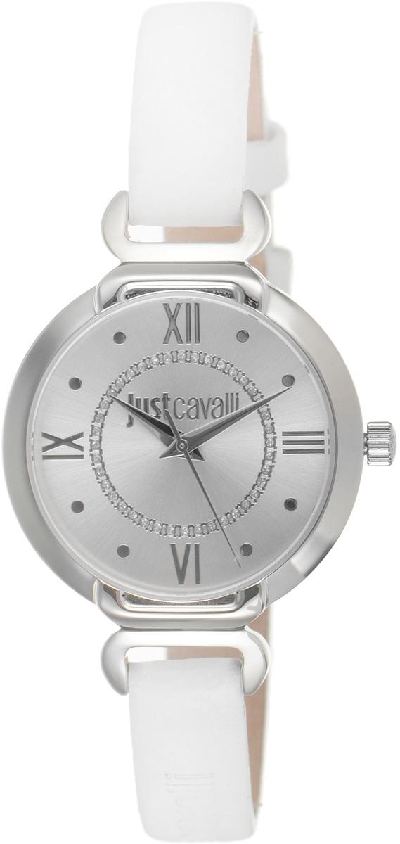 Часы наручные женские Just Cavalli, цвет: белый. R7251526502R7251526502Наручные женские часы Just Cavalli произведены из материалов самого высокого качества на базе новейших технологий. Они оснащены точным кварцевым механизмом. Корпус часов изготовлен из нержавеющей стали, циферблат инкрустирован стразами и защищен минеральным стеклом. Ремешок выполнен из натуральной кожи и оснащен классической застежкой-пряжкой. Циферблат круглой формы оснащен римскими цифрами и отметками, а так же тремя стрелками - часовой, минутной и секундной. Часы являются водостойкими - 3 АТМ. Изделие укомплектовано в стильную фирменную коробку с названием бренда. Наручные часы Just Cavalli созданы для современных девушек, которые не желают потерять свою индивидуальность в городской суете.