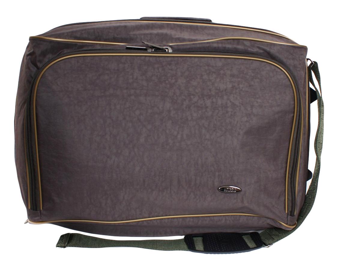 Сумка дорожная на колесах Leighton, цвет: хаки, 40л. 2043 РГД2043 РГД хакиМягкий чемодан на колесах. Одно соновное отделение на молнии, которое увеличивается при раскрывании в ширину на 15 см. На передней стенке объемный карман на молнии. Для удобства эксплуатации изделия внутри чемподана резинка с фастом для фиксации вещей при перевозке.