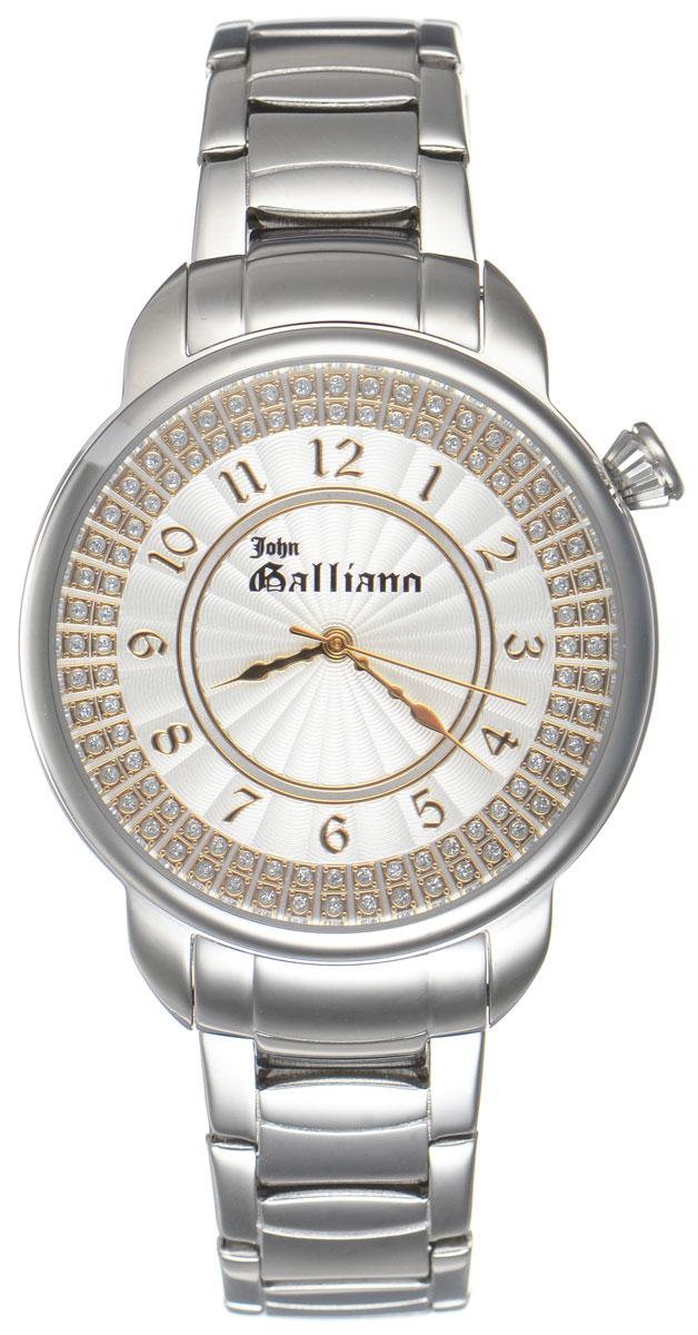 Часы наручные женские Galliano, цвет: серебристый. R2553126505R2553126505Наручные женские часы Galliano произведены из материалов самого высокого качества на базе новейших технологий. Они оснащены точным кварцевым механизмом. Корпус часов изготовлен из нержавеющей стали, циферблат инкрустирован стразами и защищен минеральным стеклом. Ремешок выполнен из гипоаллергенной нержавеющей стали и оснащен удобной раскладывающейся застежкой, которая позволит моментально снимать и одевать часы без лишних усилий. Циферблат круглой формы оснащен арабскими цифрами, а так же тремя стрелками - часовой, минутной и секундной. Часы являются водостойкими - 3АТМ. Изделие укомплектовано в стильную фирменную коробку с названием бренда. Наручные часы Galliano созданы для современных девушек, которые не желают потерять свою индивидуальность в городской суете.